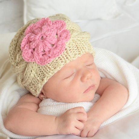 Gorro ganchillo para bebé. Para fotos de recién nacidos. Gorrito muy ...