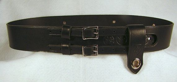 Kilt Belt Double Buckle Belt Black Leather Belt D Ring Belt Pirate