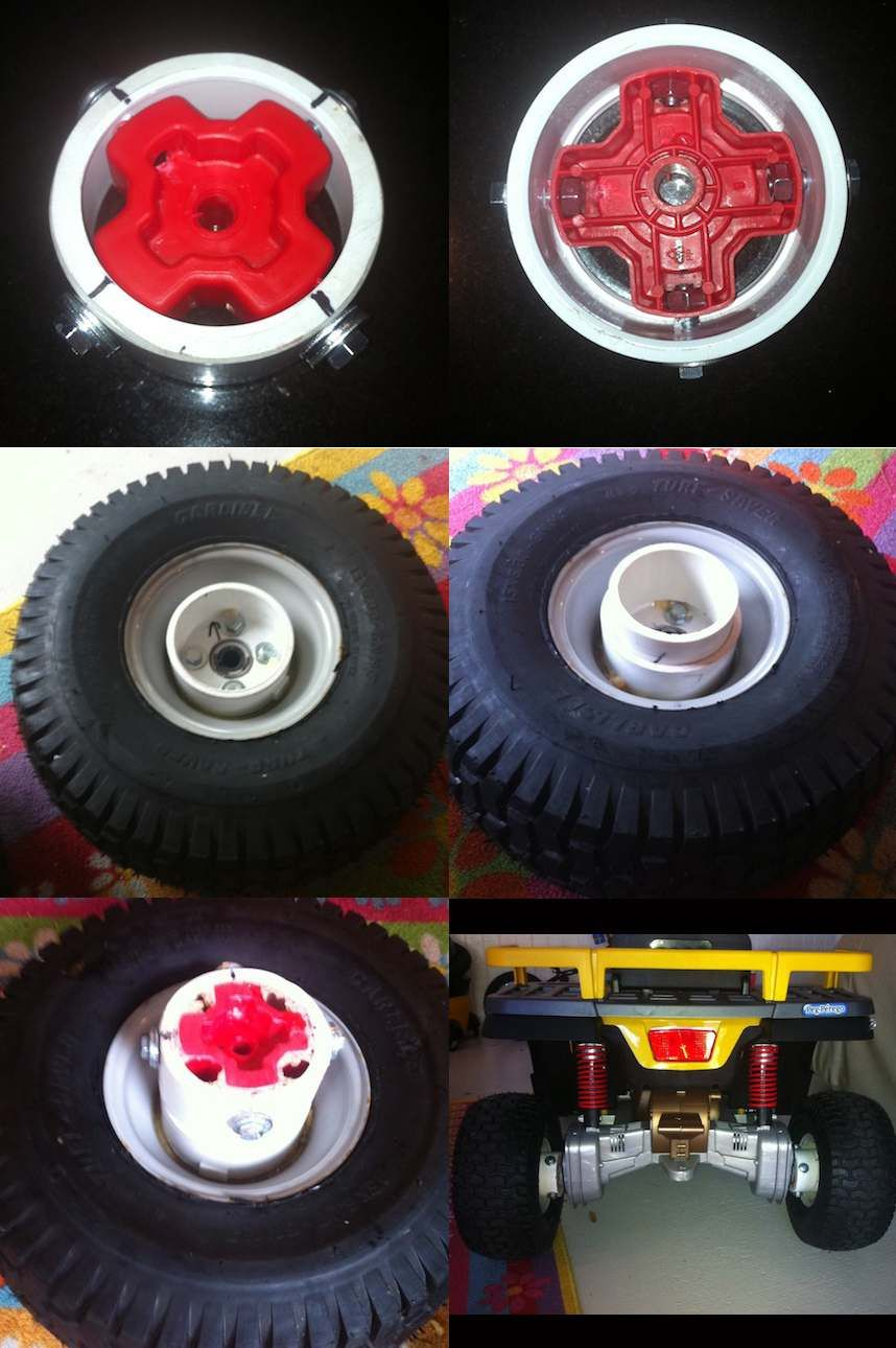 Modified Power Wheels Race Cars With Variable Speed Pedal And Rubber Jeep Ride On Tires