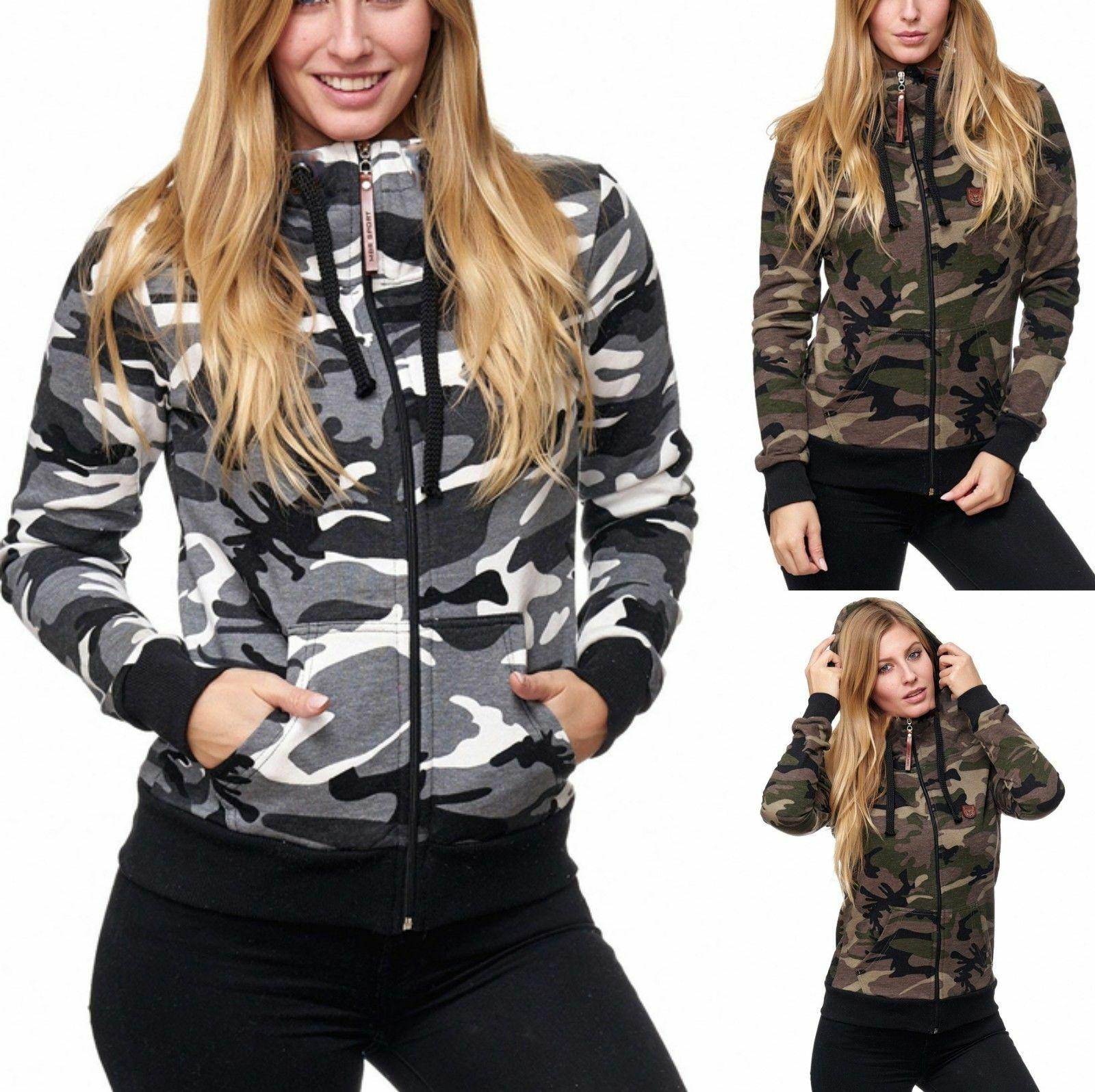 Camouflage Pullover Damen