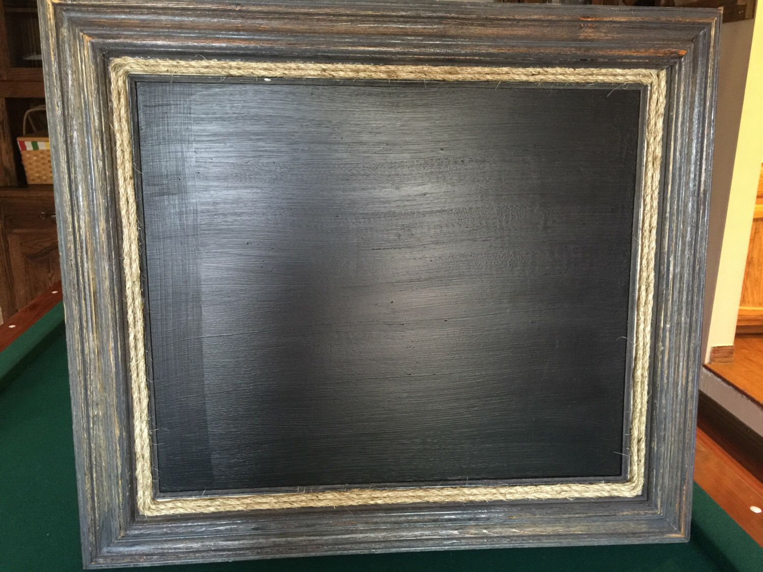 large rustic frame magnetic chalkboard for house or wedding 20x24 by youngcustomcreations on etsy https