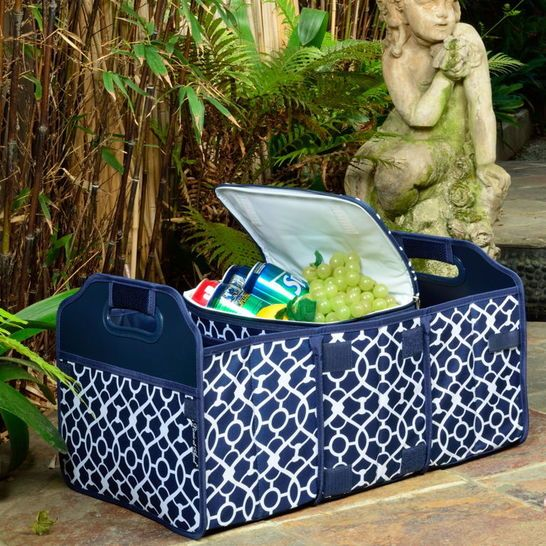 Set - Organizer with Cooler - Foldable, Fancy Blue