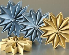 Sterne basteln für Weihnachten - mitOrigami Anleitung klappt´s besser
