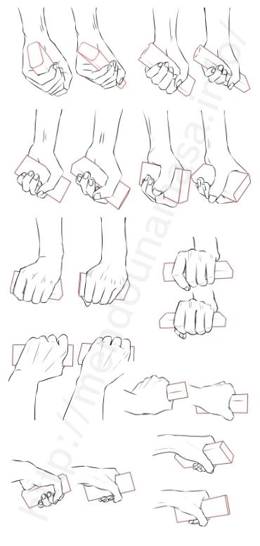 イラスト 握る 手