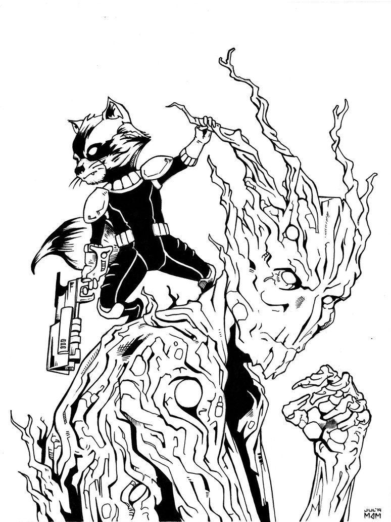 rocket_raccoon_and_groot_inks_by_mdm10d7r7db7.jpg (774