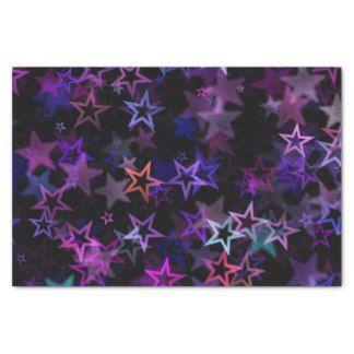 "Tissue paper space cosmos starbursts purple 10"" x 15"" tissue paper"
