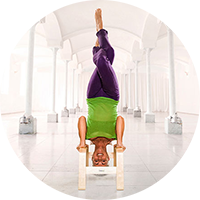 feetup trainer stool  headstand yoga yoga headstand