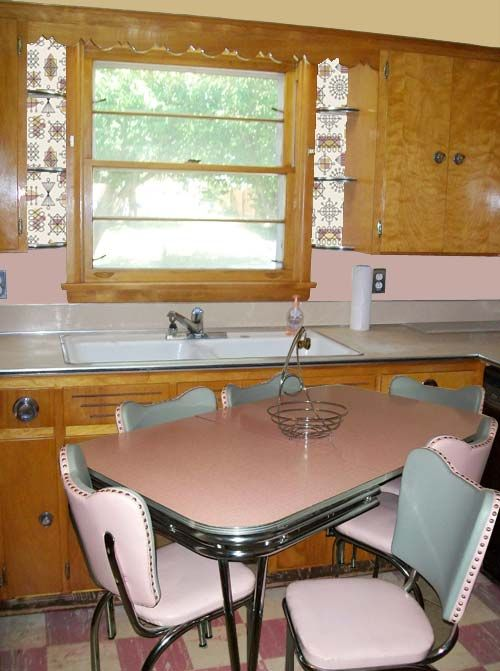 Painting Ideas Kitchen Paint Colors To Showcase A Vintage Pink And Gray Dinette