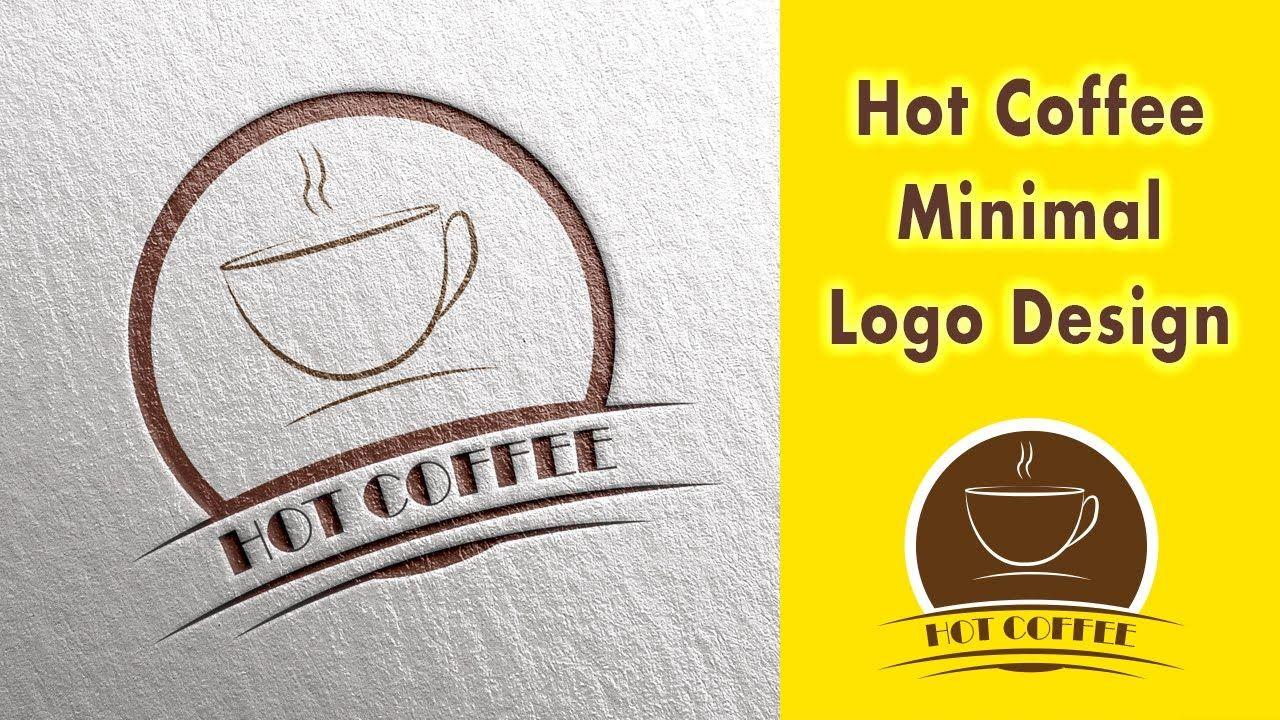Minimal Logo Design Illustrator CS6 Hot Coffee by Rabbi