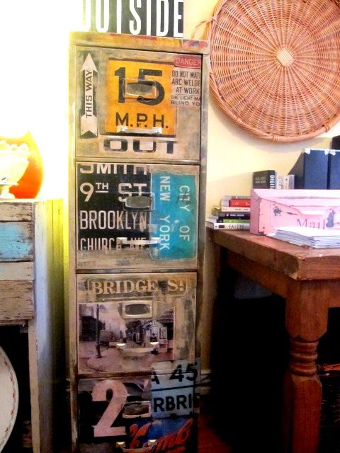 Awesome Industrial Filing Cabinet, Repurposed Old File Cabinet, Office Space, Funky  Junk With A Ideas