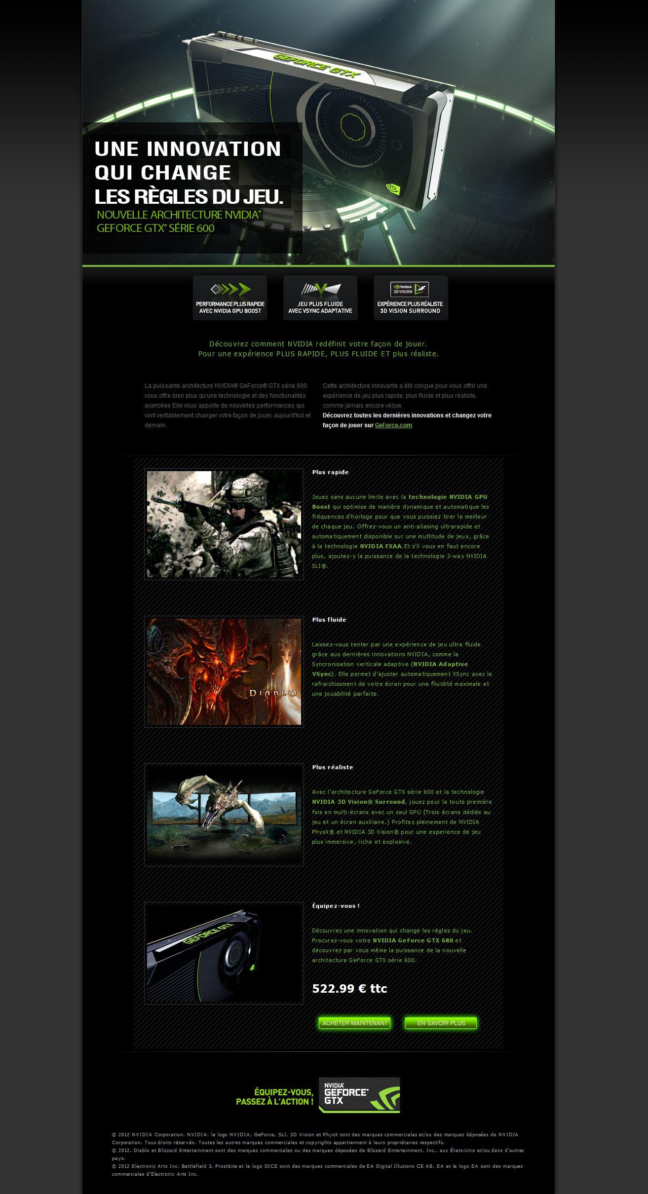 Nvidia Geforce Gtx 680 Campaign Bottom Part Html Css Dotnet Nvidia Css Pandora Screenshot