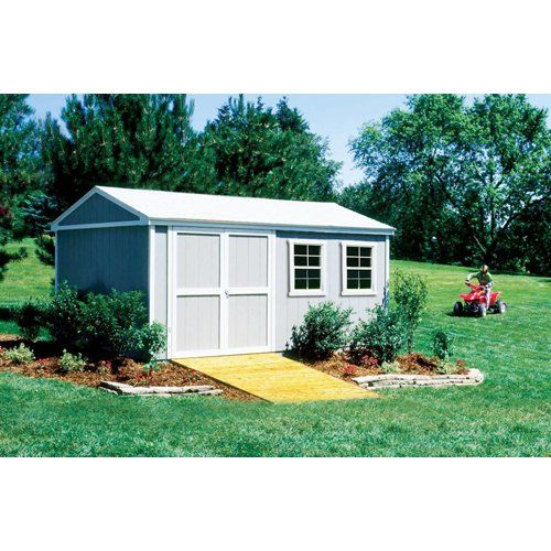 Handy Home Products Premier Series Somerset 10 X 16 Storage Building With Floor Kit Bmchhs 185069 Wood Storage Sheds Wooden Storage Sheds Storage Shed Kits