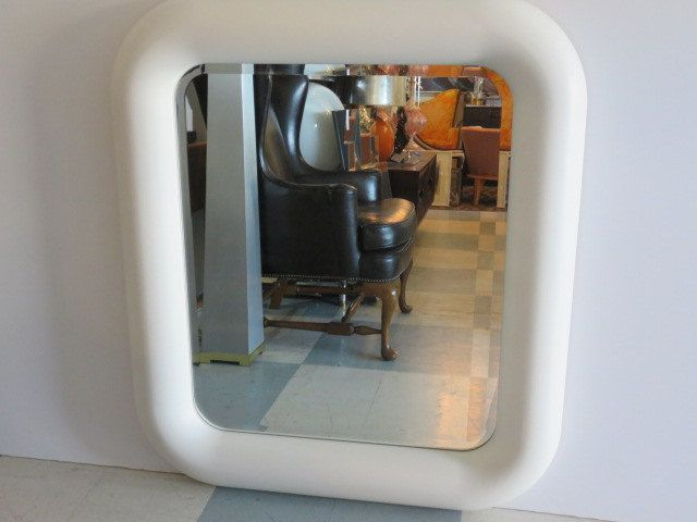 Large Lacquered Mid-Century Modern Beveled Mirror, In The Manner Of Karl Springer. by FLORIDAMODERN on Etsy