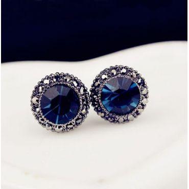 (US$2.99) Fashion Metal Blue Earrings