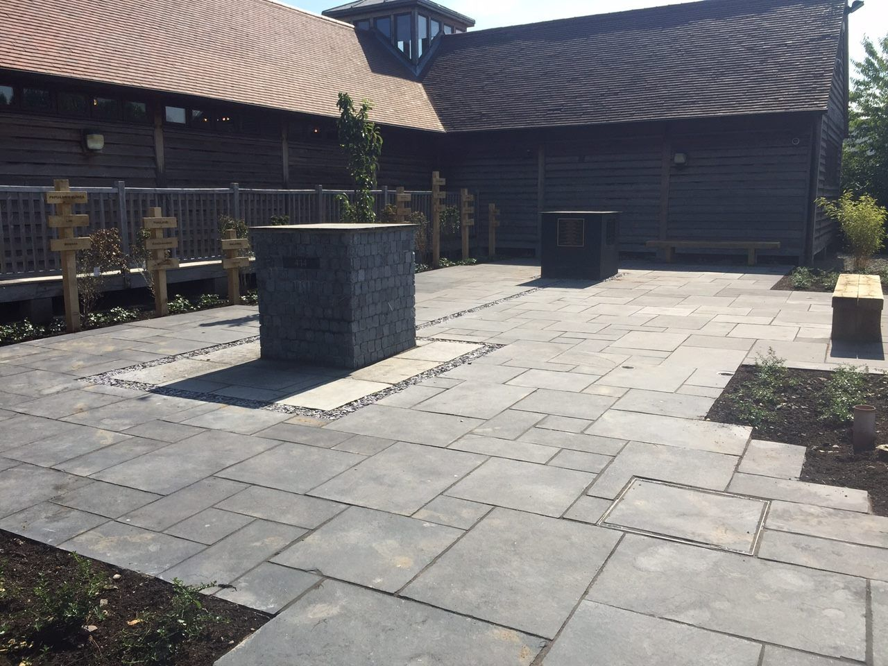 Nice Dramatic Black Limestone Natural Stone Paving Slabs From Ethan Mason Paving.  Featured Image Installed By