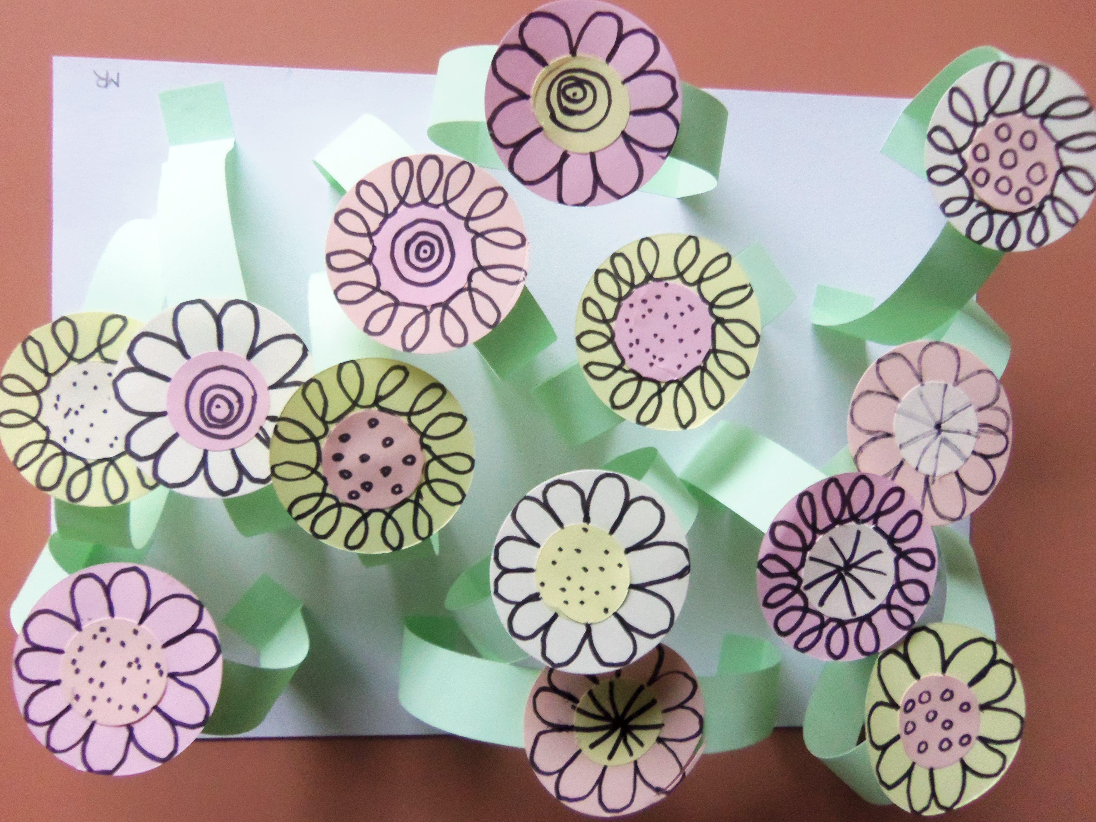 Fleurs du printemps d coupages sizzix collages retz - Le printemps gs ...