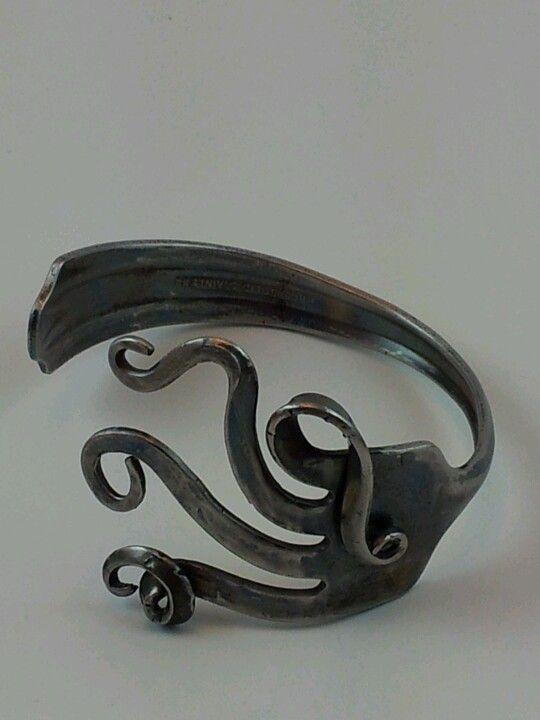 Upcycled stainless steel jewelry from americanforkart.com