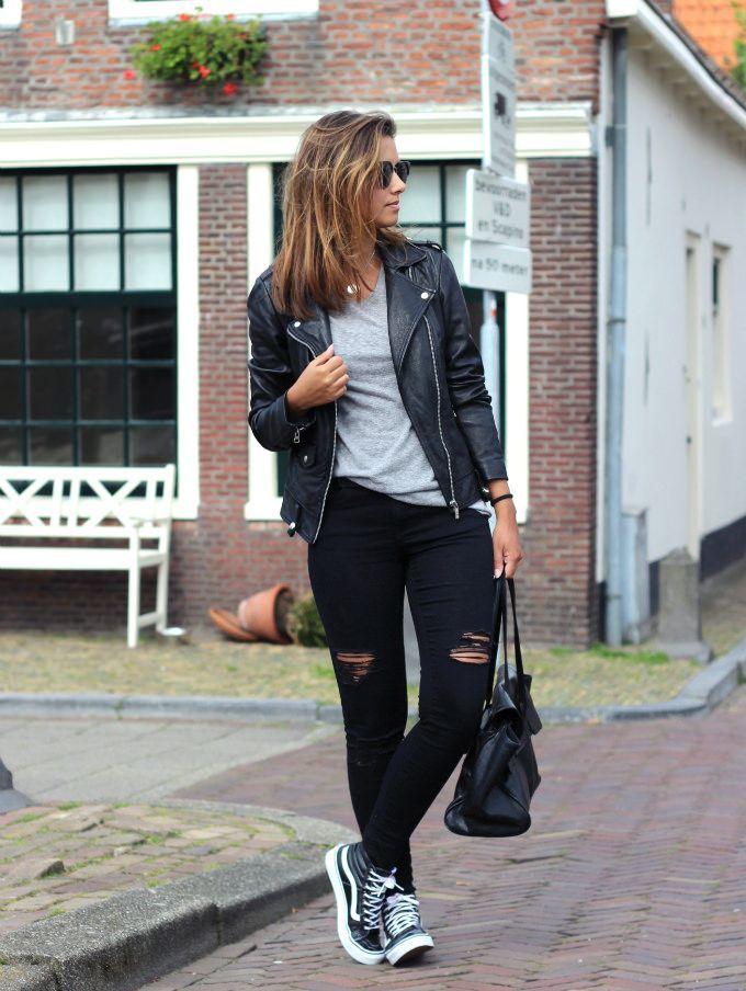 31d670e0998 Outfit-vans-sk8-hi-slim-black - a photo on Flickriver