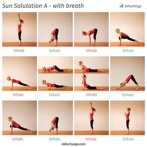 sun salutation b sequence with breath  beginner yoga workout