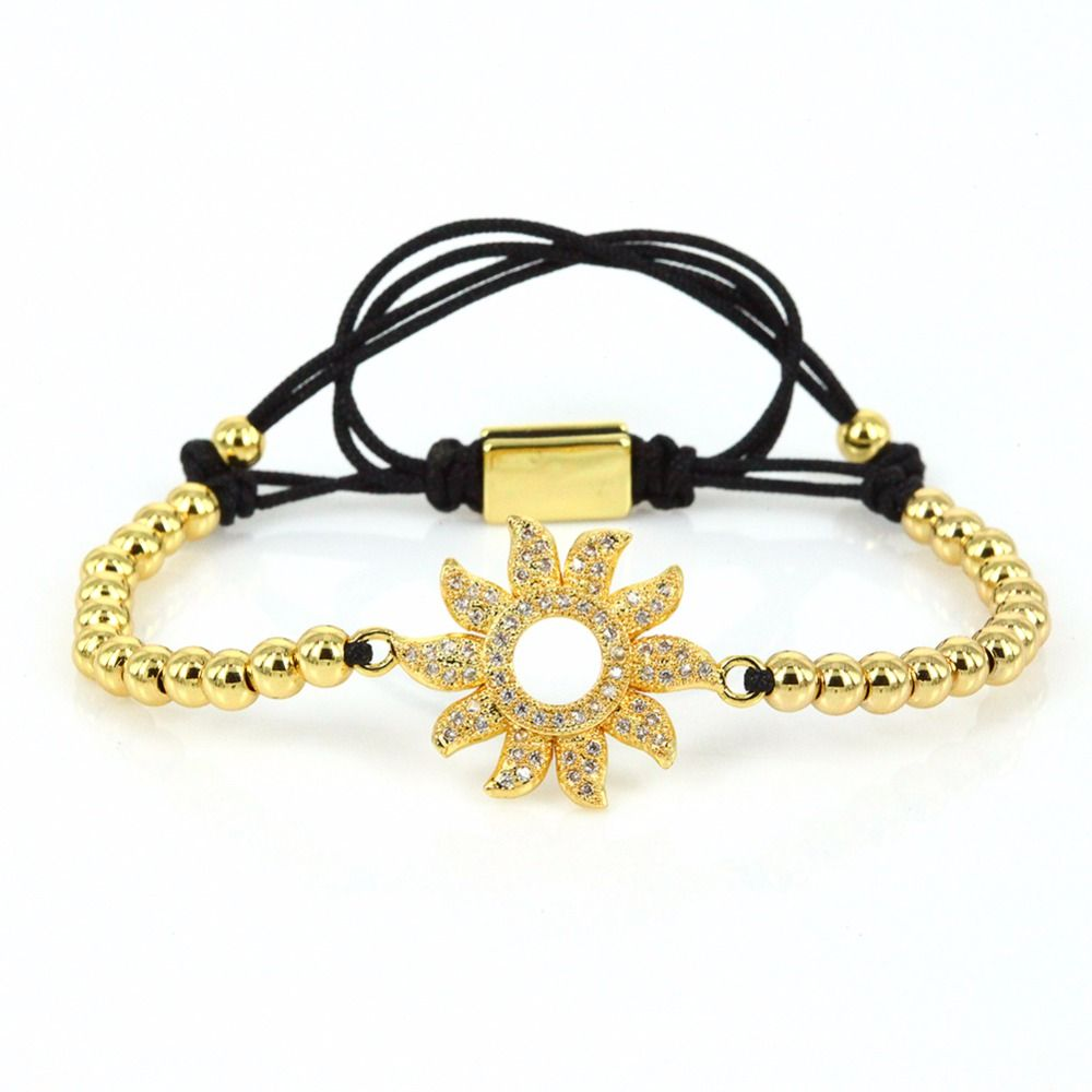 Sun charm bracelet top fashion women jewelry for girls micro pave