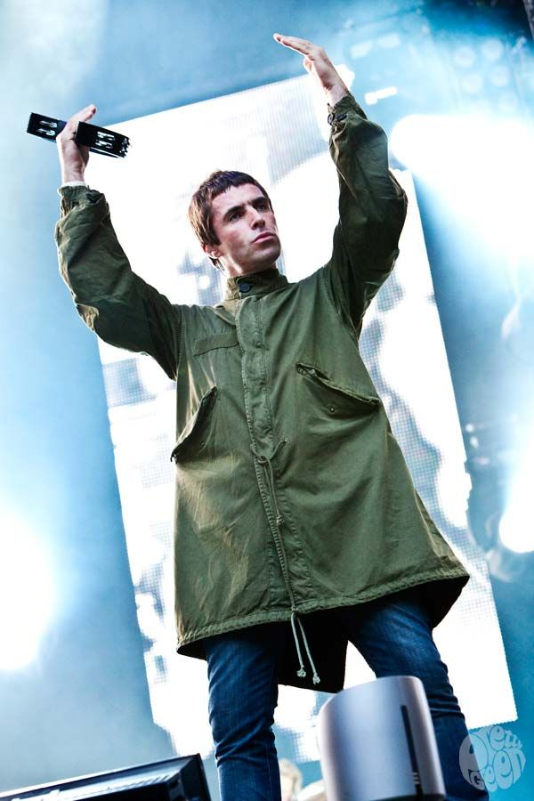 Image result for liam gallagher green parka stage