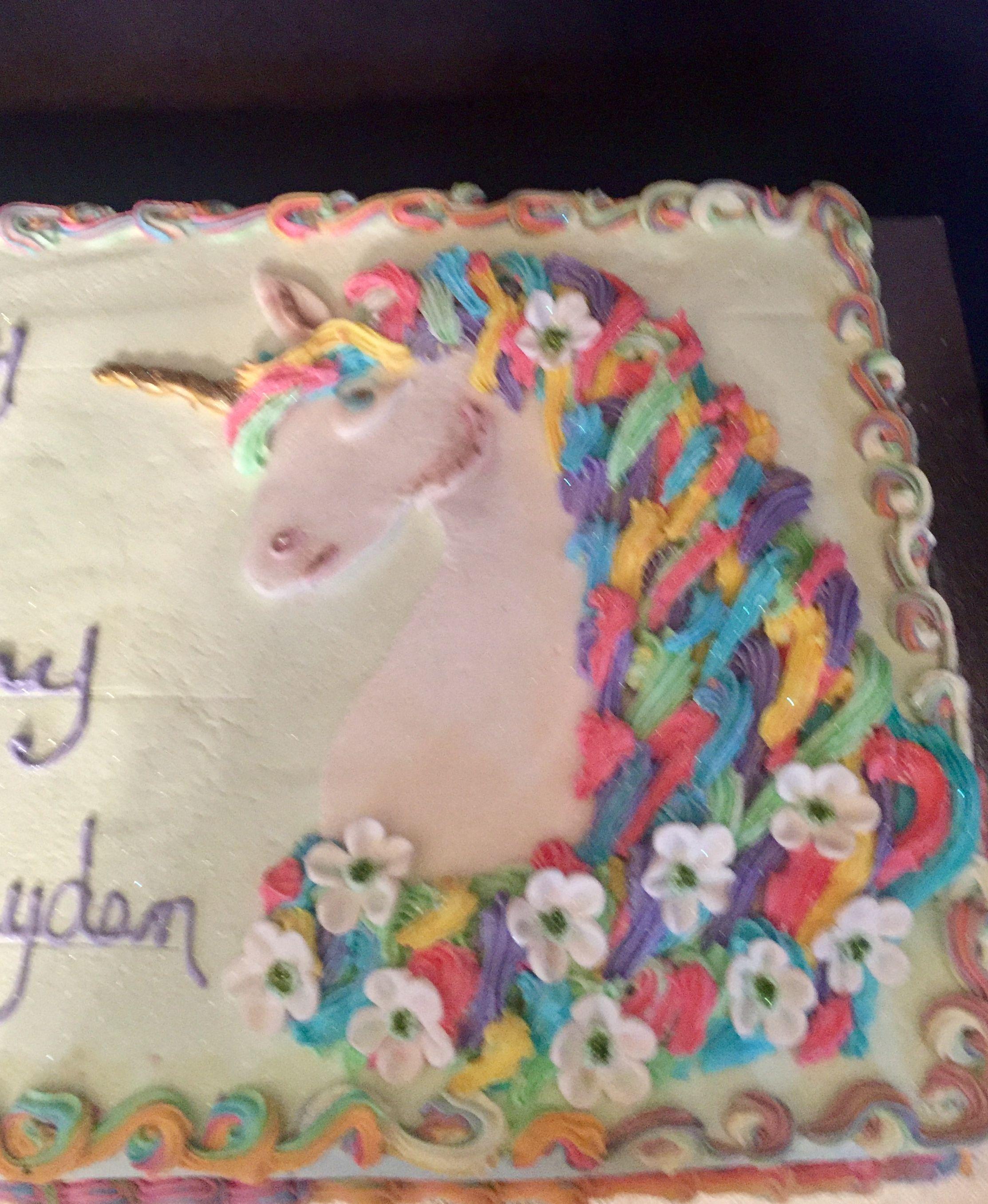 Unicorn 1 2 Sheet Birthday Cake Cake Art Design S By Marie Cake Cake Art Cake Designs