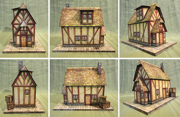 Wizard's Shop of Rake's Corner Paper Model - Dave Graffam Models