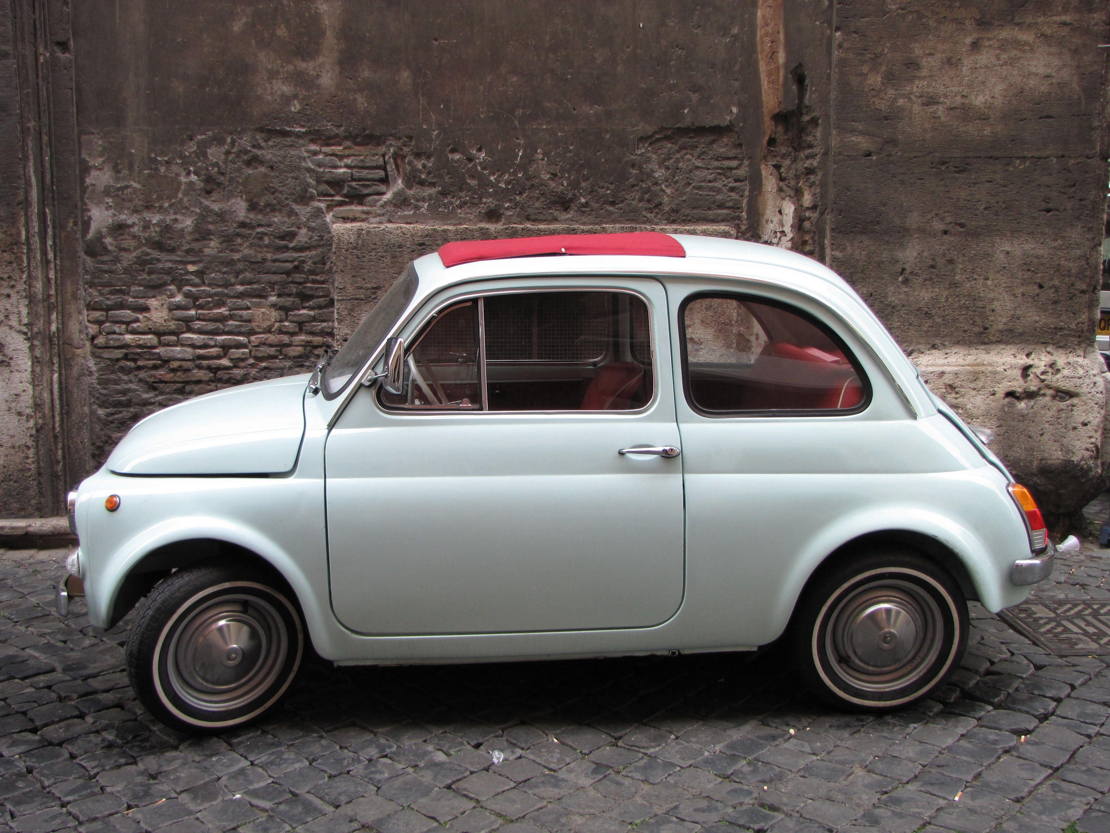 Fiat 500 in Rome, Jan 2012.