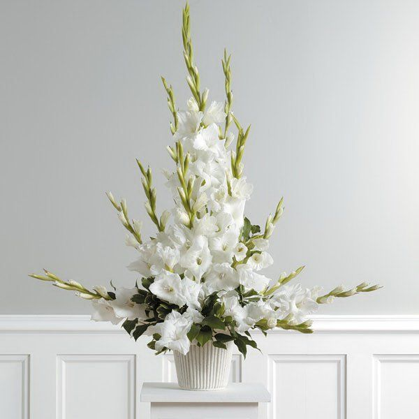 Church Altar Arrangements Wedding Flowers Gladiolas: Ceremony Flowers--Although A Relatively Inexpensive Flower