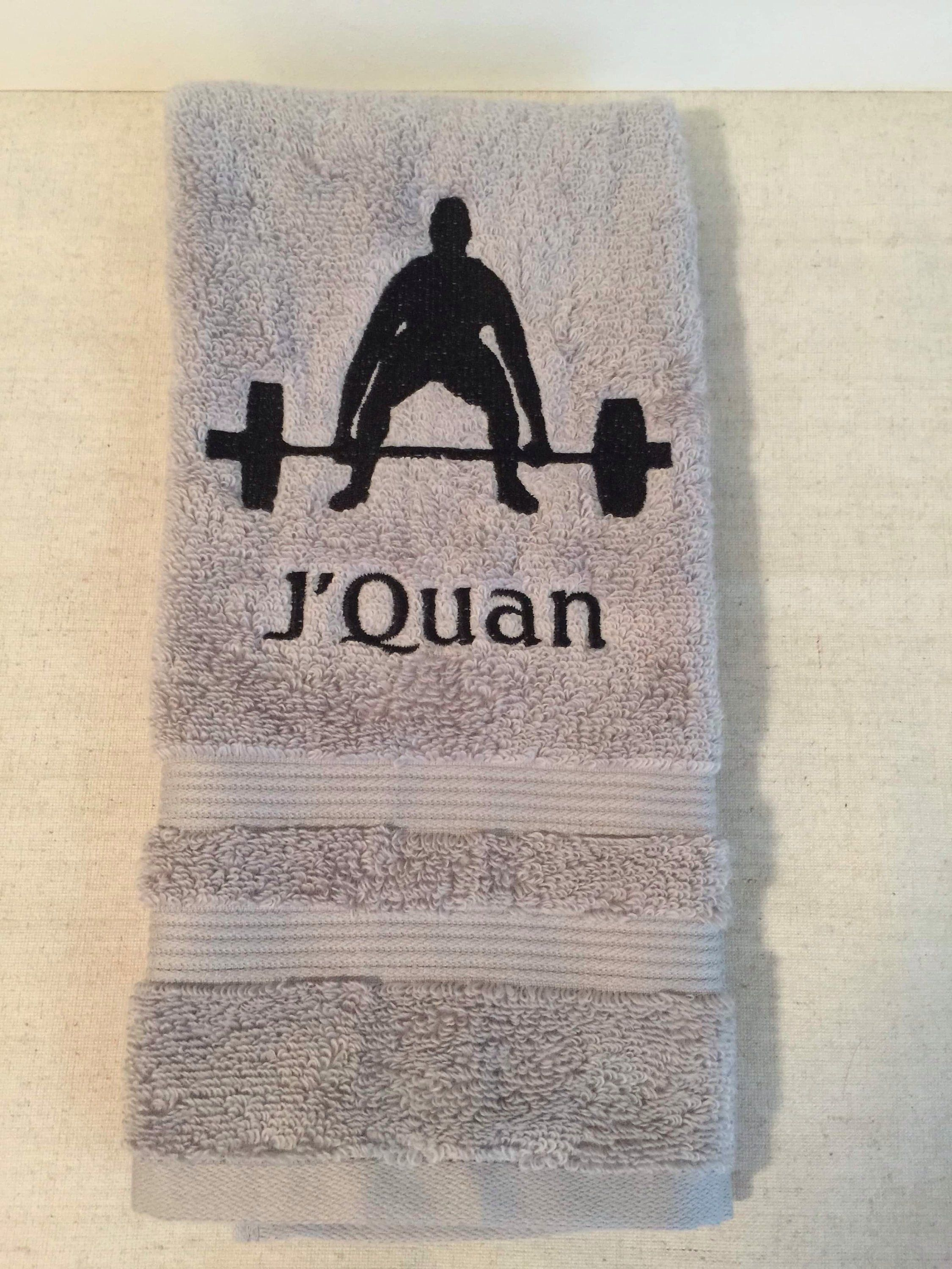 Custom Embroidered Personalized Gym/Weight Lifting Towel in 2019