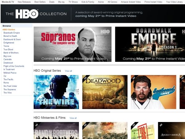 HBO wises up; brings its content to Amazon Prime Instant Video (Image credit:  Amazon Prime Instant Video)