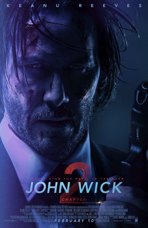 John Wick Chapter 2 13 5x20 Promo Movie Poster John Wick 2 Movie John Wick Movie Watch John Wick