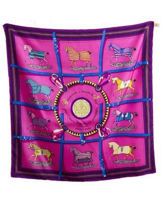 buy Couvertures et Tenues de Jour Hermes silk twill scarf hand-rolled 36'' x 36 online outlet wholesale
