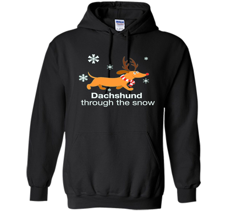 Dachshund through the snow Christmas T-Shirt