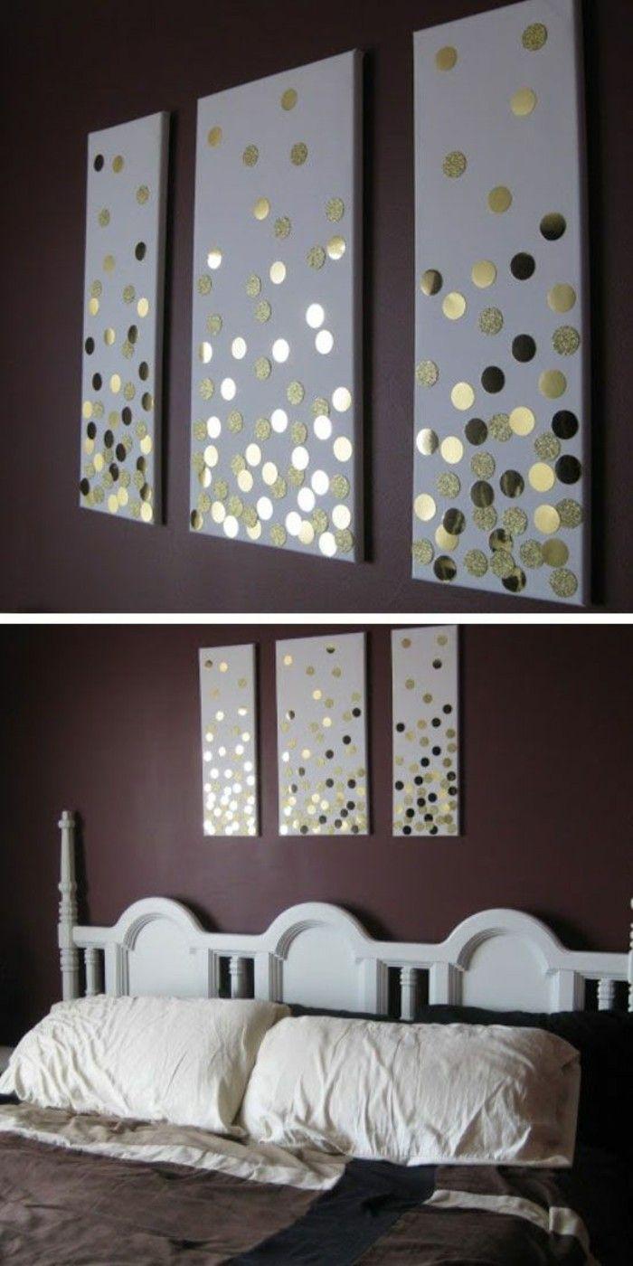 Elegant Wanddeko Selber Machen Wanddekoration Ideen Bilder Mit Goldenen Stickern  Dekorieren