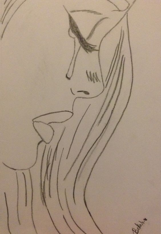 girls face drawing. visit my youtube channel to learn drawing and coloring