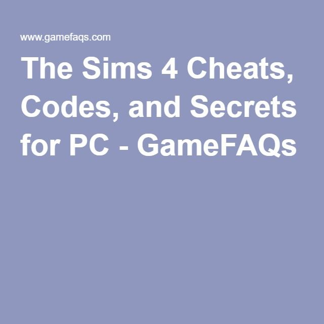 cheat code sims 4 ps4