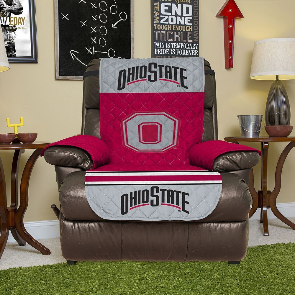 Brilliant Ohio State Buckeyes Quilted Recliner Chair Cover Products Squirreltailoven Fun Painted Chair Ideas Images Squirreltailovenorg