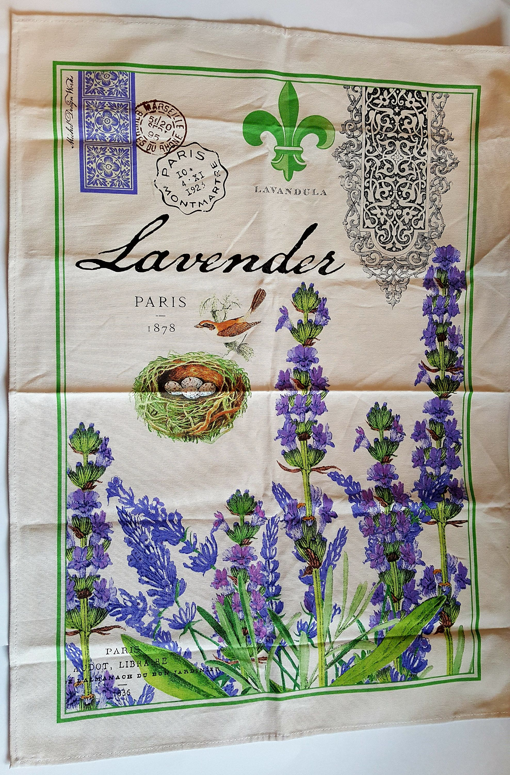 Tea Towel Michel Design Works Lavender Kitchen Towel Paris