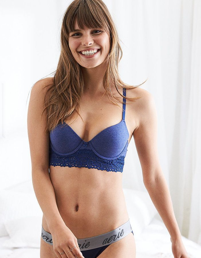 4e5b03e38 aerie Bridget Demi Coverage Pushup Bra