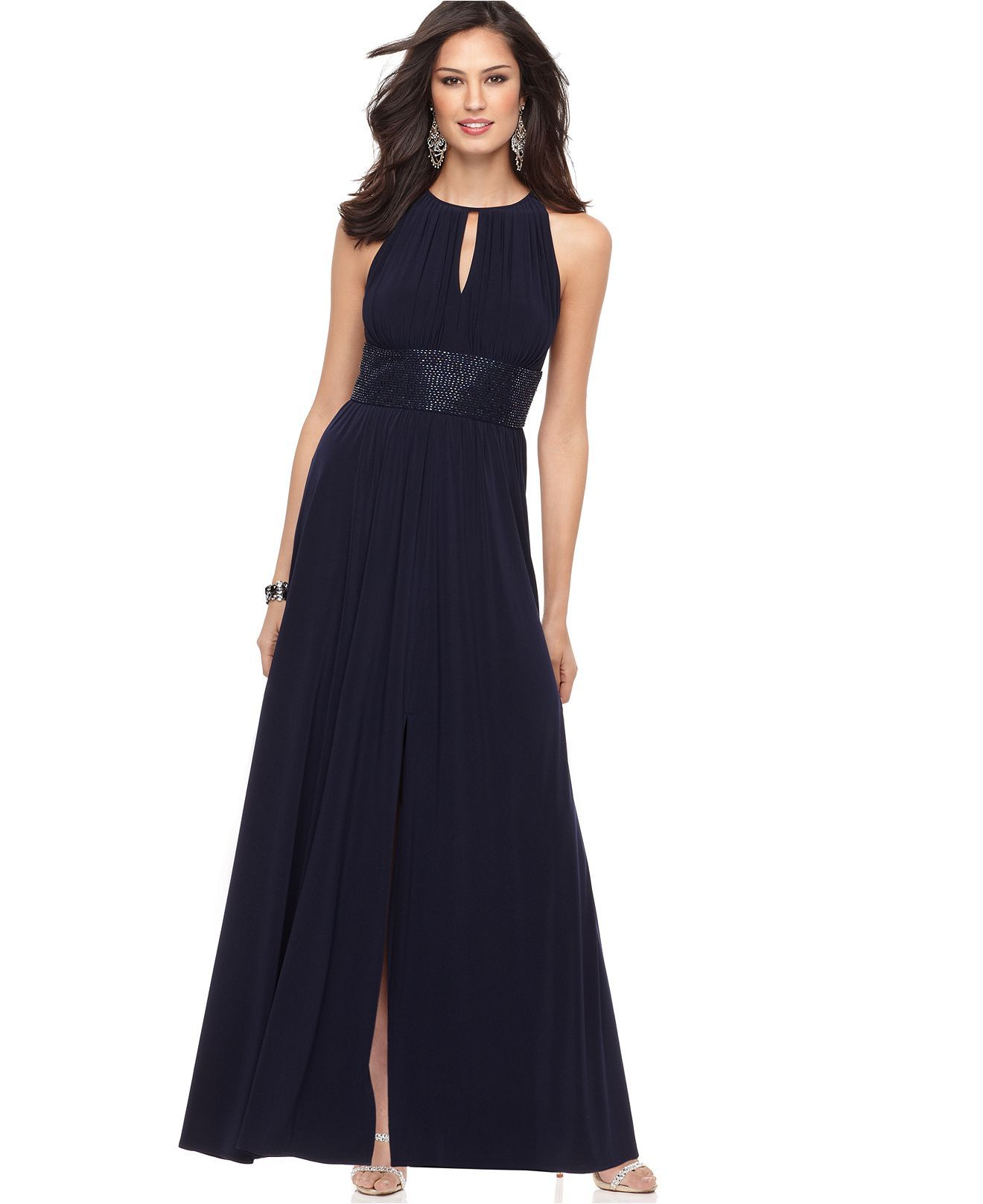 R Richards Dress, Sleeveless Evening Dress - Womens Dresses - Macy\'s ...
