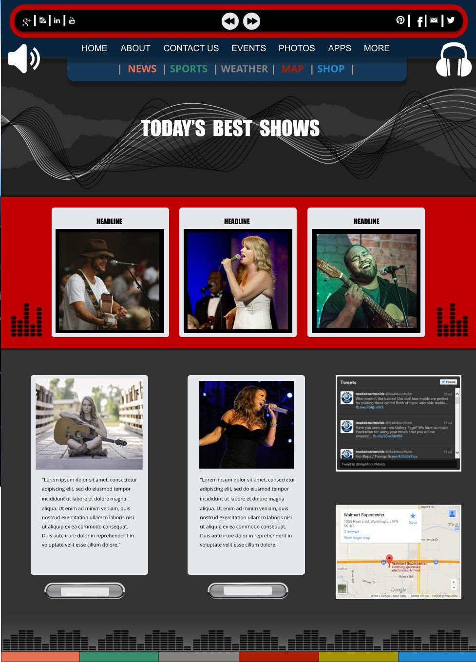 Xara Web Designer 365 Premium Templates - Sign In Favorites Concert ...