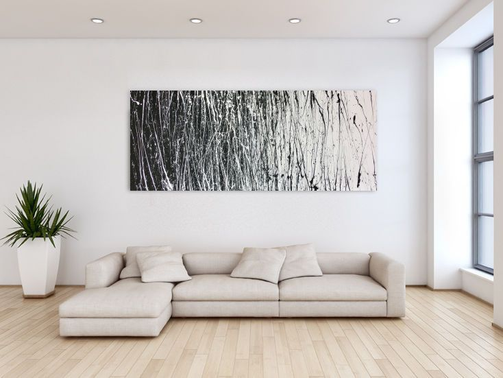 abstraktes acrylbild schwarz wei modern acrylbilder schwarz wei und abstrakte. Black Bedroom Furniture Sets. Home Design Ideas
