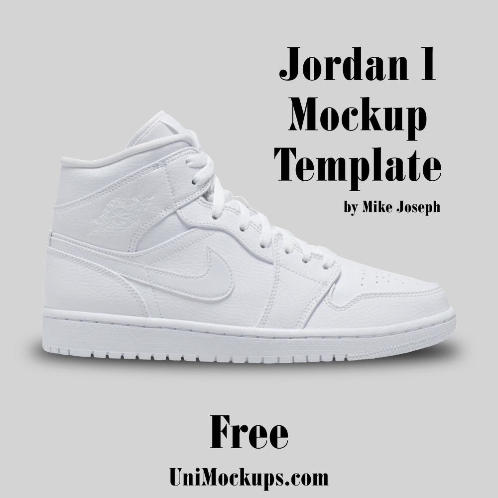 Custom Jordan 1 Mockup Template Unimockups Com Custom Jordans Mockup Template Mockup
