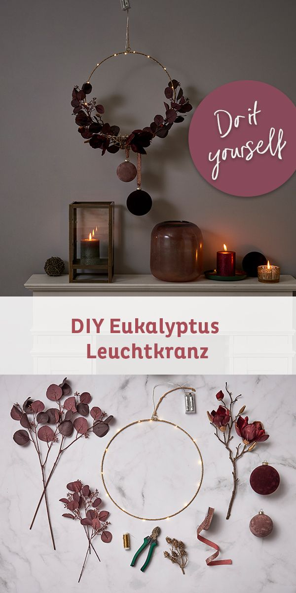 Photo of Eucalyptus in wreath DIY in two variants Fast, simple and beautiful: a cr …