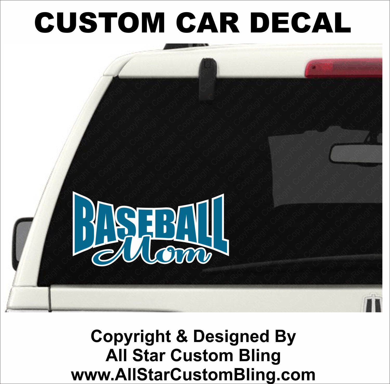 Custom Baseball Mom Car Decal Custom Baseball Car Decal Baseball - Car windshield decals custom