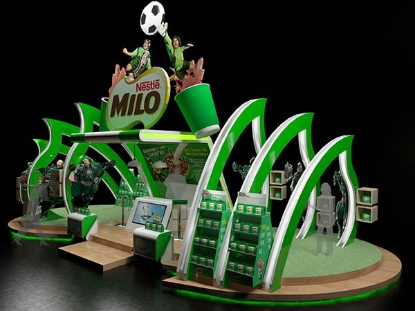 Nestle Exhibition Booth : Nestle milo booth on behance stands booths design
