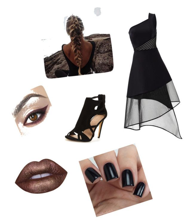 """16"" by coolgirl12345678910 ❤ liked on Polyvore featuring David Koma and Lime Crime"