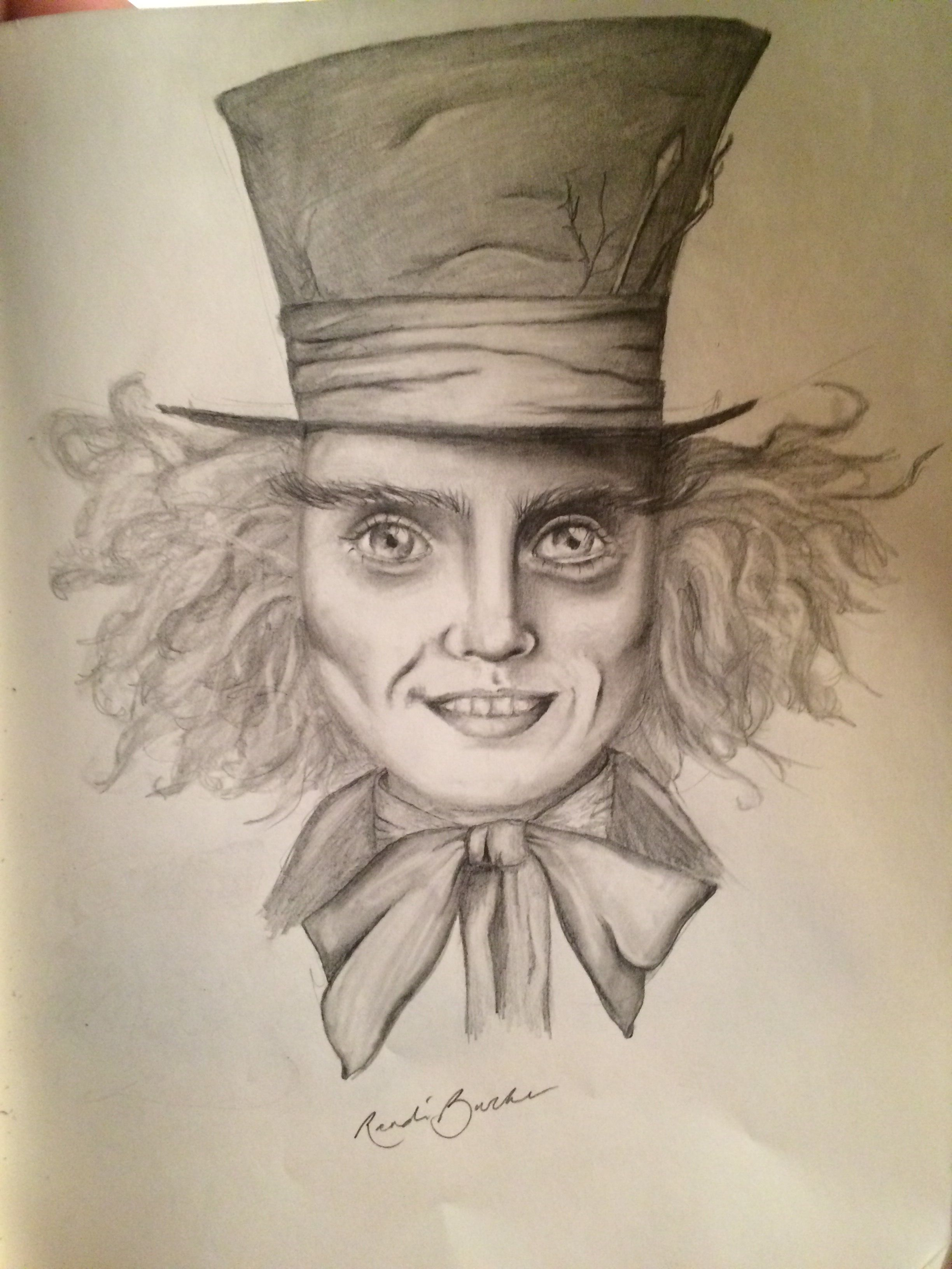 The mad hatter of alice and wonderland madhatter pencil drawing illustration unique art cool indie alice and wonderland aliceandwonderland