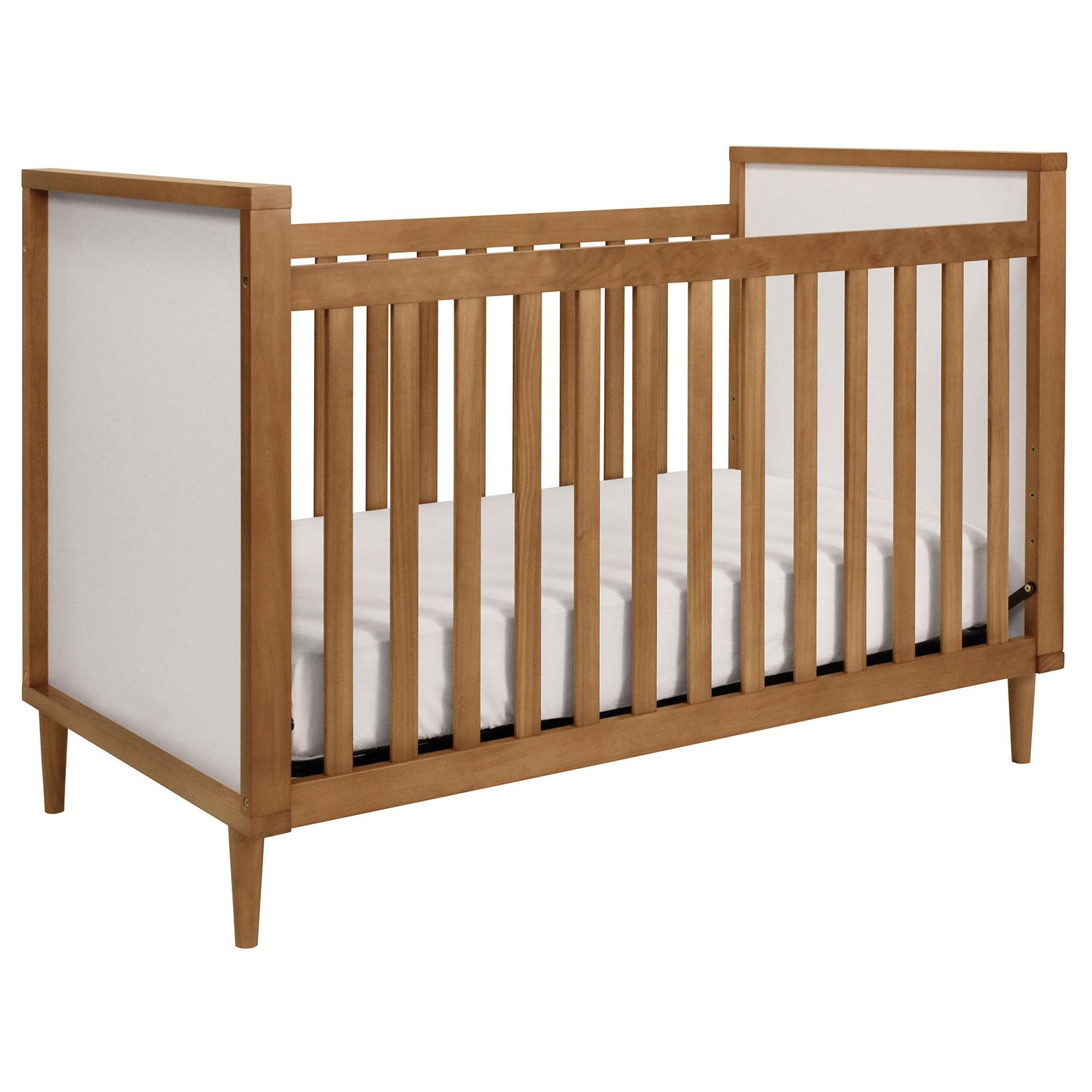 Babyletto Skip 3in1 Chestnut and White Convertible Crib